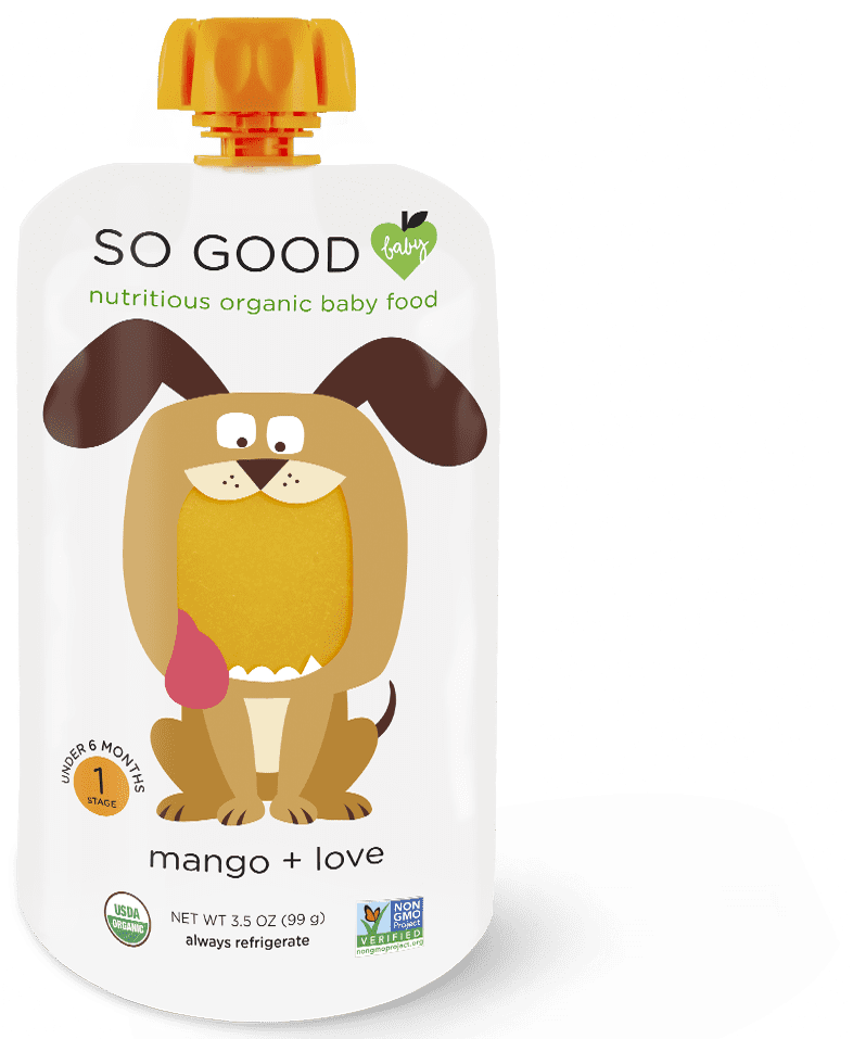 SoGoodSoYou - SoGoodBaby - Mango Baby Food Pouch Dog