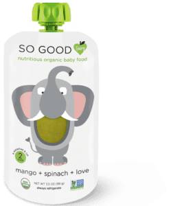 SoGoodSoYou - SoGoodBaby - Mango + Spinach Elephant Baby Food Pouch
