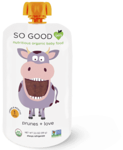 SoGoodSoYou - Prunes + Love Cow Baby Food Pouch