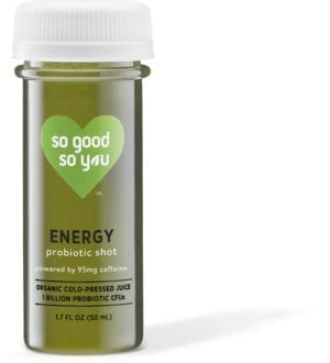 So Good So You probiotic shot, Energy