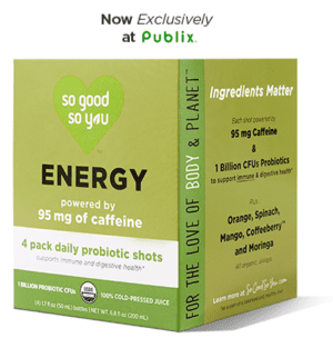 So Good So You probiotic shot, 4-Pack Energy